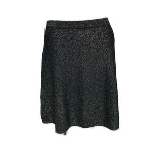 NWT Nanette Lepore Women Skirt A Line XL Black